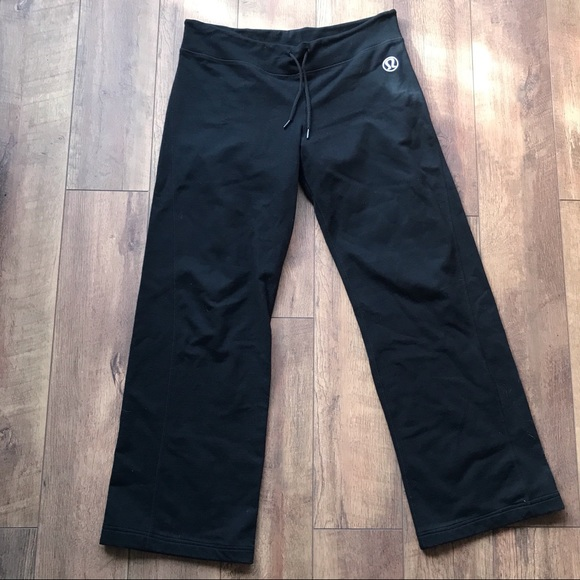 Lululemon   Black Wide Leg Sweatpants   12